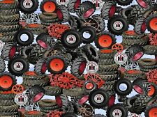 Farmall 10186 Packed Tires Print Concepts Premium 100% cotton fabric by the yard