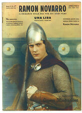 CINEMA ILLUSTRAZIONE SUPPLEMENTO N. 4 BIS 1933 RAMON NOVARRO ROMANZO VITA E FILM
