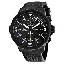 IWC IW379502 Aquatimer Galapagos Islands Chronograph Men Black Rubber Watch New
