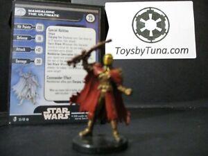Star Wars Miniatures Mandalore the Ultimate KOTOR w/ Card mini RPG Legion