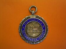 Sterling Silver And Enamel Football Fob Medal - Mid Herts FA Benevolent Shield