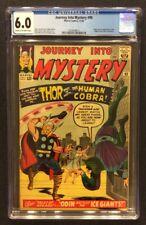JOURNEY INTO MYSTERY #98 Comic CGC 6.0 Marvel 1963 1ST APP COBRA Silver Age Thor