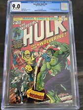 The Incredible Hulk #181 (Nov 1974, Marvel) / CGC 9.0 /  OW / White Pages