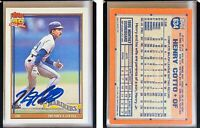 Henry Cotto Signed 1991 Topps #634 Card Seattle Mariners Auto Autograph