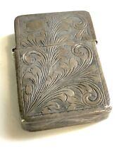 Zippo Vintage Sterling Silver Ornate Engraved Florentine Lighter