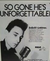 Robert Gordon Rock Billy Boogie Magazine Advertising Rockabilly Music Clipping