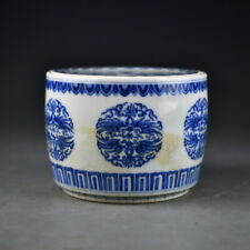 collection  China  Ming Dynasty  Blue and white  Ice plum pattern  Cricket pot