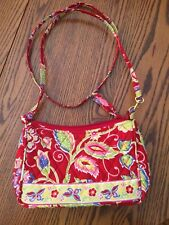NWOT QK Quilted Zippered crossbody handbag Purse Red Yellow Like Vera