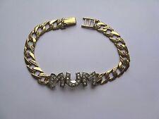 Ladies 7.5inch 9ct Gold Cubic Zirconia Mum bracelet 14g