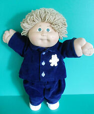 Cabbage Patch Boy Doll 1983 Wheat Long Loops Small Green Eyes Corduroy Outfit