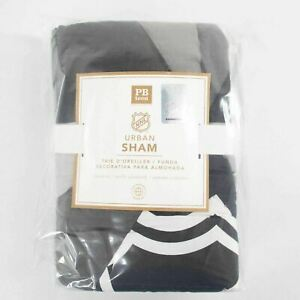 Pottery Barn URBAN SHAM NHL HOCKEY Standard Size Quilted NEW IN PACKAGE