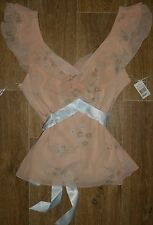 BNWT LADIES MYER SIZE 14 STUNNING FULLY LINED SHEER DRESSY TOP ~ NEW