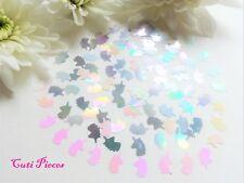 3D Nail Art Silver White Holographic *Unicorns* Small Pack Spangles Glitter Tip