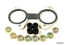 WEBER DCOE BONDED PLATE & MOUNTING RUBBERS & CUPS  SINGLE CARB/CARBURETTOR