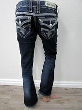 MINT BUCKLE WOMENS ROCK REVIVAL MAGGIE BOOT STRETCH EMBELLISHED JEANS Sz 28 x 31