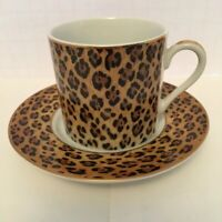 Lynn Chase Amazonian Jaguar Demitasse Cup And Saucer *Excellent*