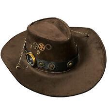 Steampunk Cosplay Gears Cowboy Hats Women Men Western Jazz Hat