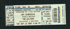 2007 Amy Winehouse Unused Concert Ticket Wiltern Los Angeles Back to Black