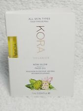 Kora Kerr Organics Noni Glow FACE OIL All Skin Types Sample/Vial .034 oz/1mL New