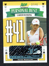 Akiko Morigami #PB-AM1 signed autograph 2013 ACE Authentic Personal Best 27/41