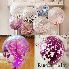 "2pc 12"" Clear Latex Sequins Confetti Balloon Wedding Birthday Party Decor Random"