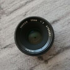 Nikon Nikkor 50mm f/2 Lens From Japan