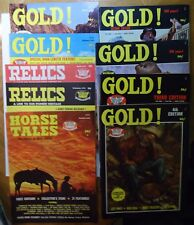 LOT of 9 - 1970's  Horse Tales - Relics - GOLD!  partner to TRUE WEST TIMES
