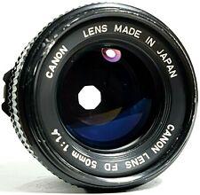 Canon FD 50mm F1.4 Prime Lens UK Fast Post
