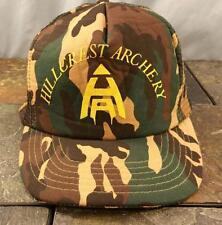 Hillcrest Archery Camo Mesh Trucker Snapback Baseball Hat / Cap