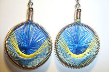 Peruvian Alpaca Silver & Handmade Dreamcatcher Thread  Earrings~NT4~uk seller