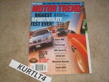 MOTOR TREND magazine Dec 2000 BMW M3 Volvo S60 Honda Civic Sentra SE road test