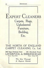 1934 Liverpool North Of England Carpet Cleaning Parliament St Birkenhead Ad