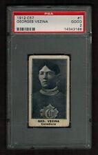 PSA 2  GEORGES VEZINA C57 Imperial Tobacco Hockey Card #1