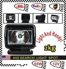 55W 12V HID XENON 360° Magnatic Remote Spot Search Light for Boat Hunting Black