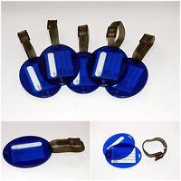 5 x Kofferanhänger Blau Stabil Gepäckanhänger Namensschild Anhänger Kofferschild