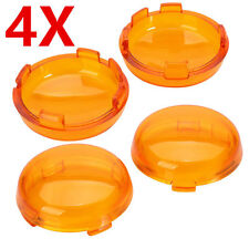 4x Turn Signal Light Amber Lens Cover for Harley Electra Glide Sportster Touring