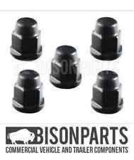 *FITS FORD TRANSIT MK7 2006-2013 FRONT / REAR BLACK WHEEL NUT CAPS TRA395 X 5
