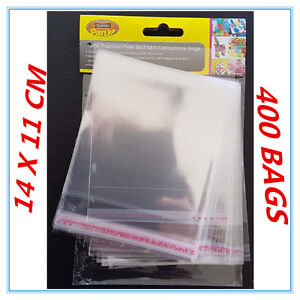 400 X PEEL AND SEAL CLEAR SHINY CELLOPHANE BAGS PARTY BIRTHDAY GIFT PACKAGE AP