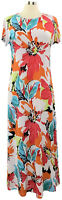 Attitudes by Renee Medium Multicolor Floral Short Sleeve Maxi Dress