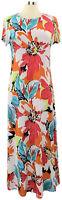 Attitudes by Renee Medium Multicolor Floral Short Sleeve Maxi Dress