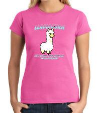 Lama Corn JUNIOR'S T-shirt LLAMA Furry Fluffy Magic Unicorn GIRL'S Tee - 2141C