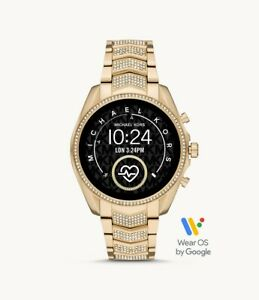 Michael Kors Bradshaw Gen 5 Pave Gold Tone Touchscreen SmartWatch MKT5115 SEALED