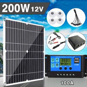 Kits panneau solaire 200W 100A Chargeur batterie 12V pour bateau de caravane