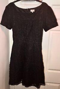Pearl Lowe Black Lace vintage inspired Tea Dress 16 Peacocks Fashion Retro Rare