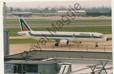 Colour print of Alitalia Airbus A321 112 I-BIXF at Heathrow in 1995
