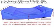 """Millies"" BLUE XLarge Superior Memory Foam Dog Bed / Mattress, Orthopaedic"