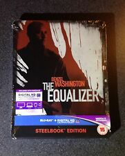 THE EQUALIZER Blu-Ray SteelBook UK Exclusive Ltd Ed Region ABC New OOP Rare Read