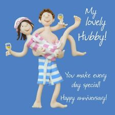 Wedding Anniversary Card - Husband Hubby Funny One Lump Or Two