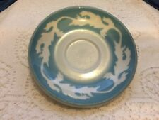 1960's Syracuse China Oakleigh Blue Air Brush Saucer 6GG USA Vintage