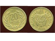 COLOMBIE 20 pesos 1990